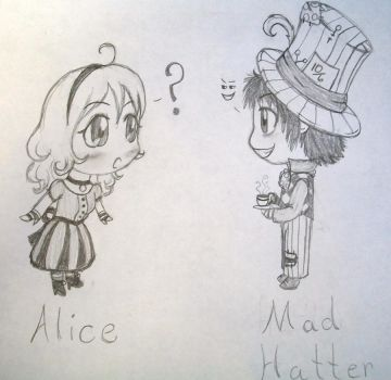 Alice and The Mad Hatter by XiaNumber14