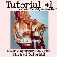 Tutorial #1 Blend Dianna Agron by LoveCantBeEasy