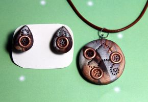 Steampunk rivet set by Sakiyo-chan