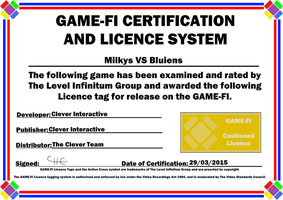 Milkys VS Bluiens Game-Fi Certificate by LevelInfinitum