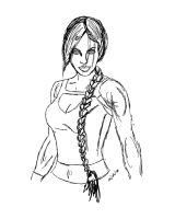 Lara Croft Rough Sketch by mishlee