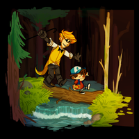 Dipper and Bill by reezetto