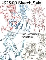 Sketch Commission Sale   10 spots available! by lady-cybercat