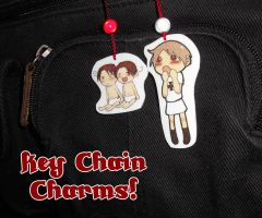 Chibi Key-Chain Charms by Arkham-Insanity