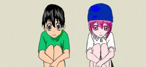 Elfen Lied Kouta and Lucy #2 by Megalomaniacaly