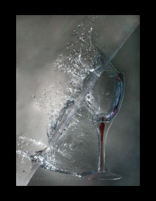 Water and glass by sangoma