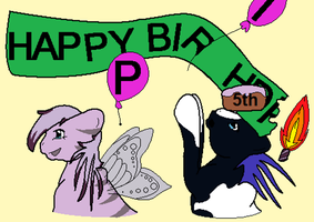 Ponyisland Drawings 5th B-Day by Flaming-Cheetah