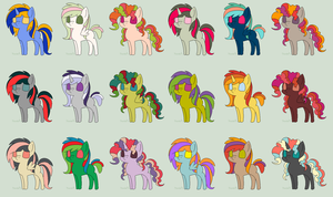 Super Free Pony Adopts Batch 5 *CLOSED* by FaerieFoxAdopts