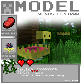 Minecraft - Venus Flytrap by Dragonith