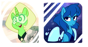 MLP: Lapis and Peridot by doggie31