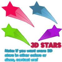 3D stars by ohperfectswift