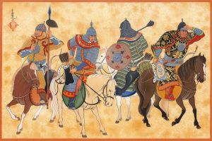 Mongol Cavalry elites by HappyMorningStar