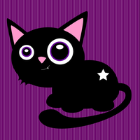 Little Black Cat - Purple by Sian44