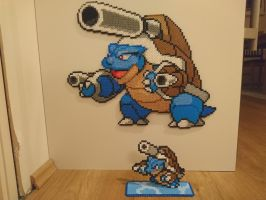 Pokemon #28 - Mega Blastoise + mini by MagicPearls
