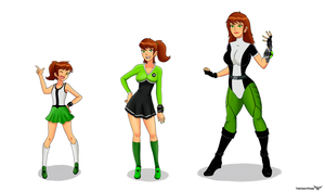 Jen 10 Age Chart - Ben 10 Gender Bender by TheMightFenek
