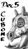 POKEDDEX Challenge - Dec 5 CUBONE by afrolady114