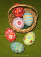 Painted Easter Eggas by RevelloDrive1630