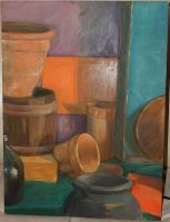 Study in Teal Purple and Orang by Kunsthaus