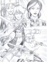 SW GAD 2nd Run - Han and Leia (Pencil Only) by YogurthFrost