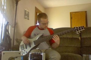 6 string bass by ElizzaBeast