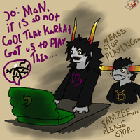 Gamzee and Tavros play slender. by dragodino112