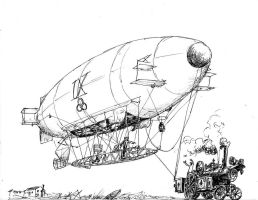 Airships of the Islands-  Tethered Flight Test by steamby51