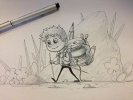 Little Traveler by cury