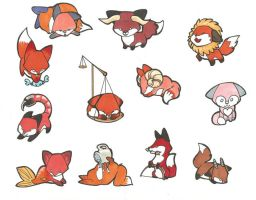 Zodiac Foxes by lizspit