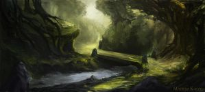 Illuminated forest by Narholt