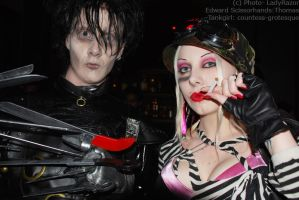 . scissorhands and tankgirl . by Countess-Grotesque