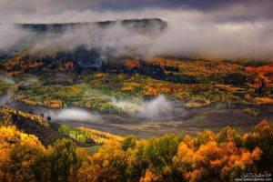 Fog and Clouds Over The Mesa by kkart