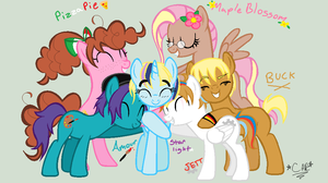 My Mane 6 OCs by HippieUnicornFlower