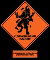 Clothesplosion Hazard T-Shirt by bar1scorpio