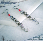 Chain Letter Earrings by queenofashes