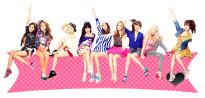 Girls' Generation (SNSD) Love and Girls render by SeoMateLove