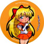 Sailor Venus Button by CrazyForJapan123