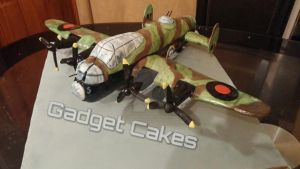 Lancaster Bomber Plane Cake tribute to my dad x by gadgetcakes