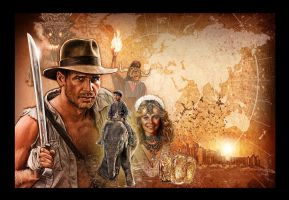 Temple of Doom blu ray art by jasonpal