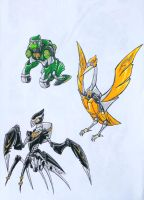 martial monkey, mantis, crane. by kishiaku