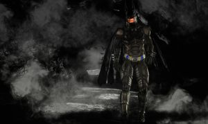 Batman in the cave by hiram67