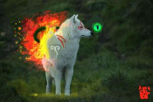 Okami: Ammy and Issun by Asoq