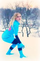 Winter Samus in Action by CosplayButterfly