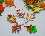 Handpainted fall confetti by Teakberry