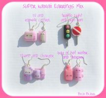 Super Kawaii Mix Earrings by Bojo-Bijoux