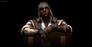 Sitting and Smirking- Connor Kenway by missxmello