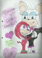 rouge y chibi knuckles by tuyoyellos