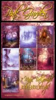 Pink Garden Backgrounds new by moonchild-ljilja