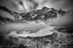 Morning fog over Morskie Oko by Dark-Raptor