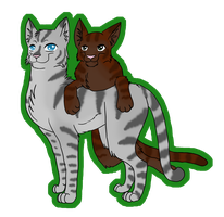 RQ: Jayfeather and Briarlight by CursedFire