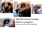 Red XIII WIP fursuit by fishingforcats